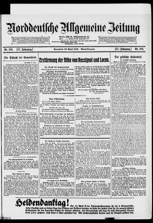 Norddeutsche allgemeine Zeitung vom 13.04.1918