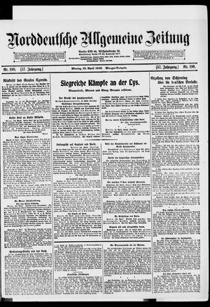 Norddeutsche allgemeine Zeitung vom 15.04.1918