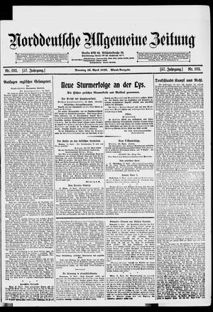 Norddeutsche allgemeine Zeitung vom 16.04.1918