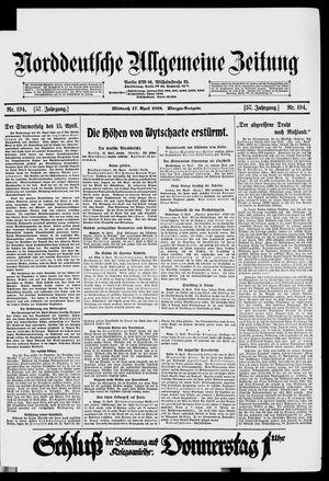 Norddeutsche allgemeine Zeitung on Apr 17, 1918