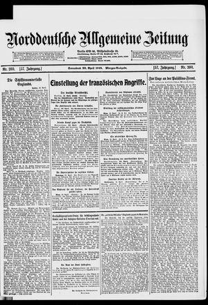 Norddeutsche allgemeine Zeitung vom 20.04.1918