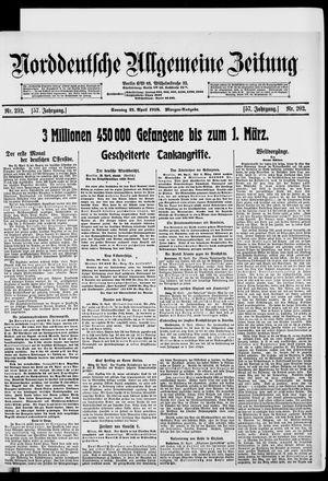 Norddeutsche allgemeine Zeitung vom 21.04.1918