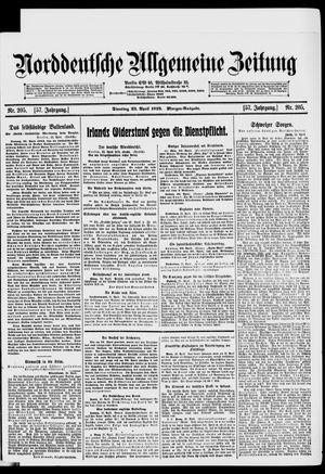 Norddeutsche allgemeine Zeitung vom 23.04.1918