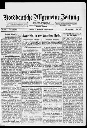 Norddeutsche allgemeine Zeitung vom 24.04.1918