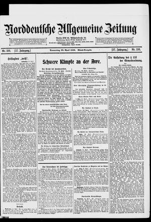 Norddeutsche allgemeine Zeitung vom 25.04.1918