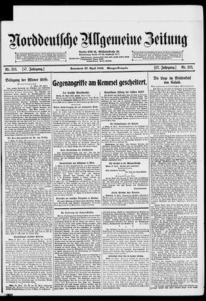 Norddeutsche allgemeine Zeitung on Apr 27, 1918
