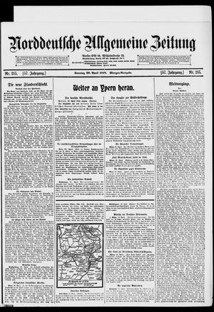 Norddeutsche allgemeine Zeitung vom 28.04.1918