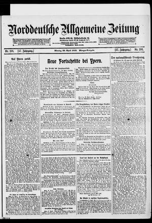 Norddeutsche allgemeine Zeitung vom 29.04.1918