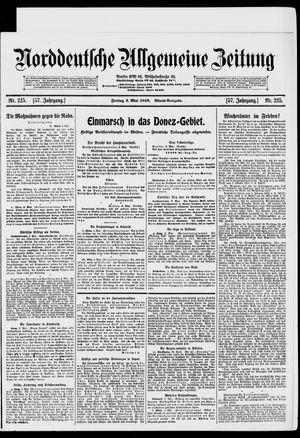 Norddeutsche allgemeine Zeitung vom 03.05.1918