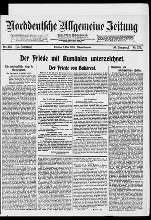 Norddeutsche allgemeine Zeitung on May 7, 1918