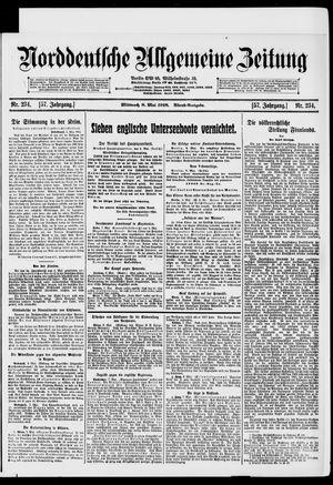 Norddeutsche allgemeine Zeitung vom 08.05.1918