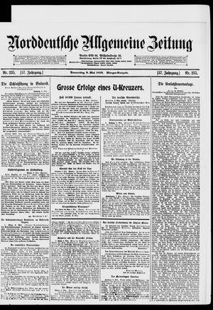 Norddeutsche allgemeine Zeitung on May 9, 1918