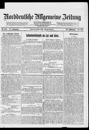 Norddeutsche allgemeine Zeitung vom 12.05.1918
