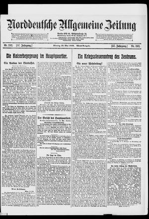 Norddeutsche allgemeine Zeitung vom 13.05.1918