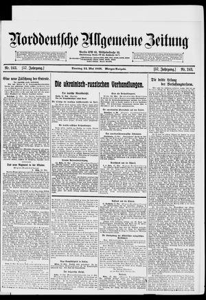 Norddeutsche allgemeine Zeitung vom 14.05.1918