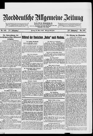 Norddeutsche allgemeine Zeitung vom 17.05.1918