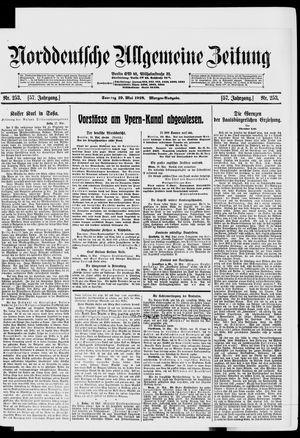 Norddeutsche allgemeine Zeitung vom 19.05.1918
