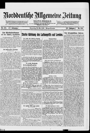 Norddeutsche allgemeine Zeitung vom 23.05.1918