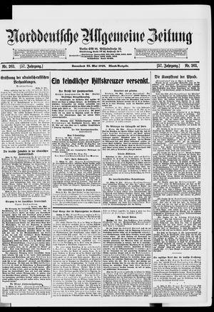 Norddeutsche allgemeine Zeitung vom 25.05.1918