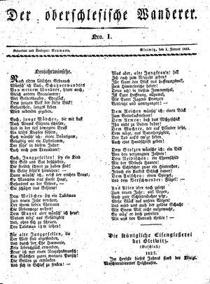 ˜Derœ Oberschlesische Wanderer vom 01.01.1833