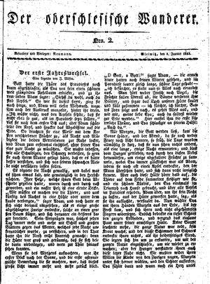 ˜Derœ Oberschlesische Wanderer vom 08.01.1833