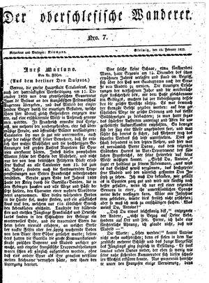 ˜Derœ Oberschlesische Wanderer vom 12.02.1833