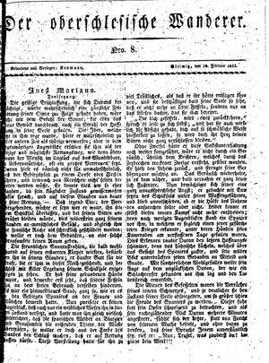 ˜Derœ Oberschlesische Wanderer vom 19.02.1833