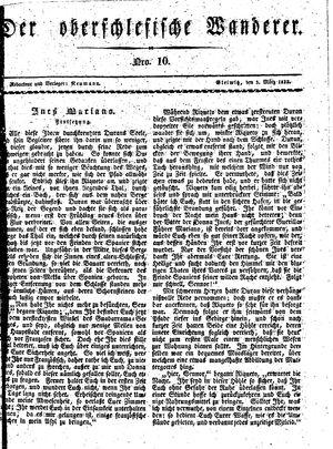 ˜Derœ Oberschlesische Wanderer vom 05.03.1833