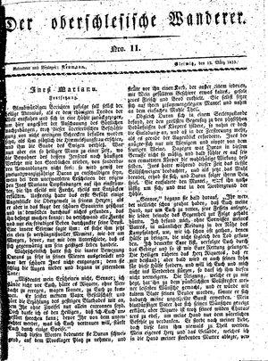 ˜Derœ Oberschlesische Wanderer vom 12.03.1833