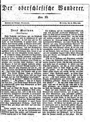 ˜Derœ Oberschlesische Wanderer vom 19.03.1833