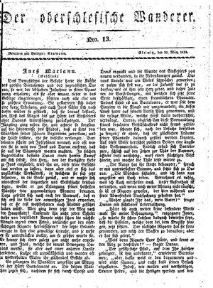 ˜Derœ Oberschlesische Wanderer vom 20.03.1833