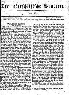 ˜Derœ Oberschlesische Wanderer vom 09.04.1833