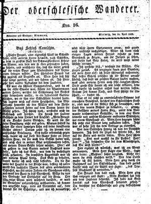 ˜Derœ Oberschlesische Wanderer vom 16.04.1833