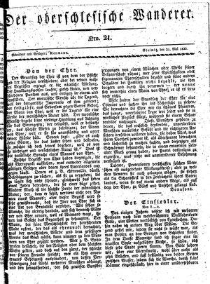 ˜Derœ Oberschlesische Wanderer vom 21.05.1833
