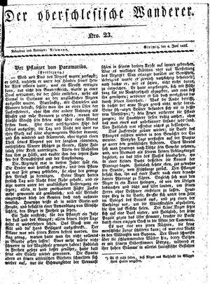 ˜Derœ Oberschlesische Wanderer vom 04.06.1833