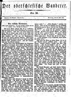 ˜Derœ Oberschlesische Wanderer vom 25.06.1833
