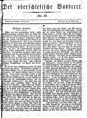 ˜Derœ Oberschlesische Wanderer vom 12.08.1833