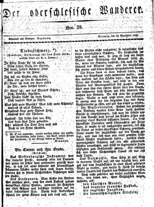 ˜Derœ Oberschlesische Wanderer vom 16.09.1833