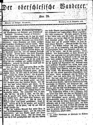 ˜Derœ Oberschlesische Wanderer vom 23.09.1833