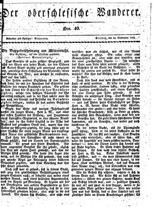˜Derœ Oberschlesische Wanderer vom 30.09.1833