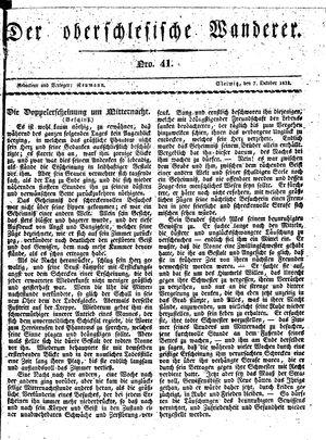 ˜Derœ Oberschlesische Wanderer vom 07.10.1833