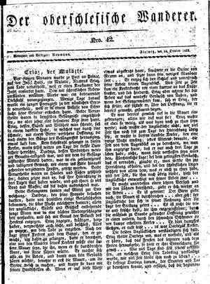 ˜Derœ Oberschlesische Wanderer vom 14.10.1833