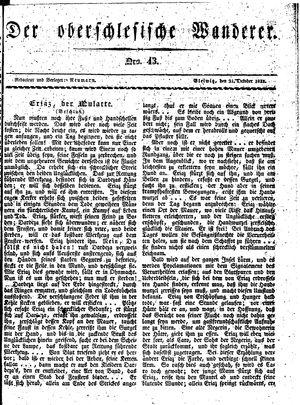 ˜Derœ Oberschlesische Wanderer vom 21.10.1833
