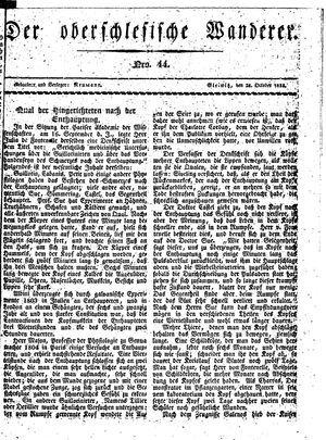 ˜Derœ Oberschlesische Wanderer vom 28.10.1833