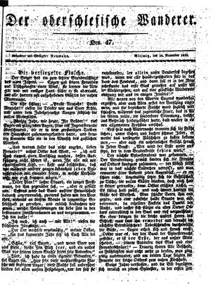˜Derœ Oberschlesische Wanderer vom 18.11.1833