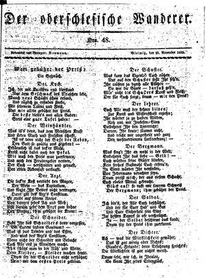 ˜Derœ Oberschlesische Wanderer vom 25.11.1833