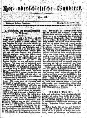 ˜Derœ Oberschlesische Wanderer vom 30.12.1833