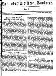 Der oberschlesische Wanderer (22.02.1836)