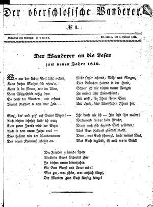 ˜Derœ Oberschlesische Wanderer vom 01.01.1840