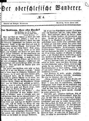 ˜Derœ Oberschlesische Wanderer vom 21.01.1840
